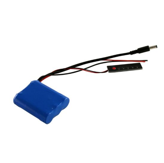 18650 Lithium Ion 11.1V 2600mAh Battery Pack with BMS LED Indicator for Emergency Lamp