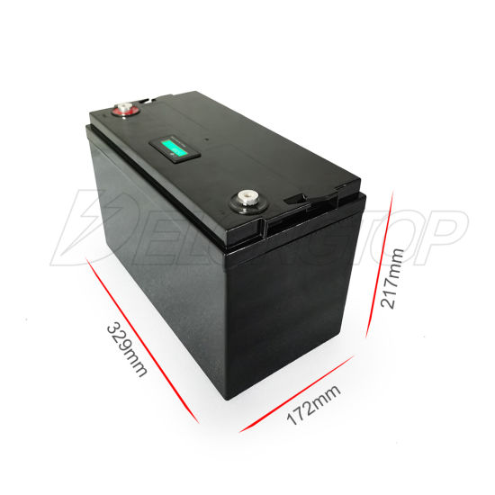 LiFePO4 100ah 200ah 300ah 400ah 12V Lithium Ion Battery for Solar System/Motor Home/Boat/Golf Carts Car Battery (12V 100ah × 1PCS)