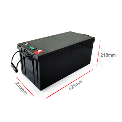 Deep Cycle Lithium Ion Battery with Built-in BMS - Perfect for RV Camper, Marine Solar 200ah LiFePO4 Battery 12V